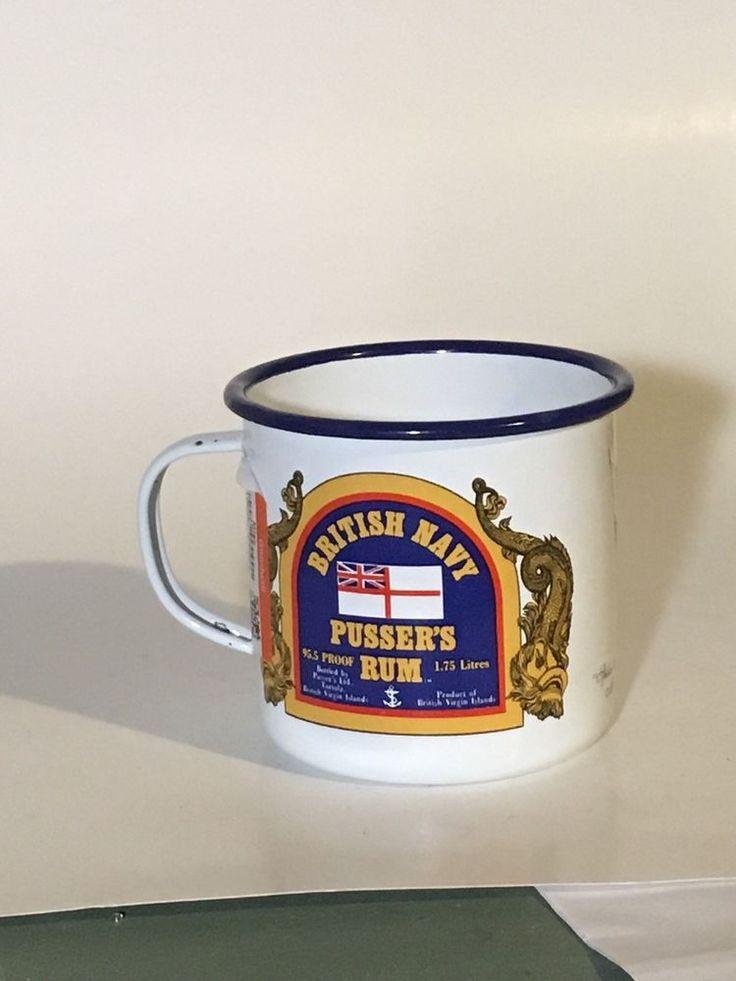 PUSSERS RUM Enameled Mug Cup St John Royal VIRGIN ISLANDS British Navy  | eBay