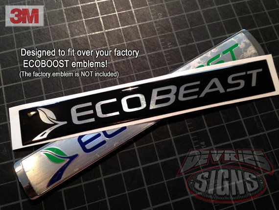 Domed FORD ECOBEAST emblem overlays ecoboost eco by DeVriesSigns