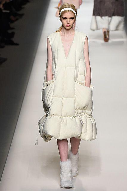 Fendi Duvet Puffer Coats- Fall 2015