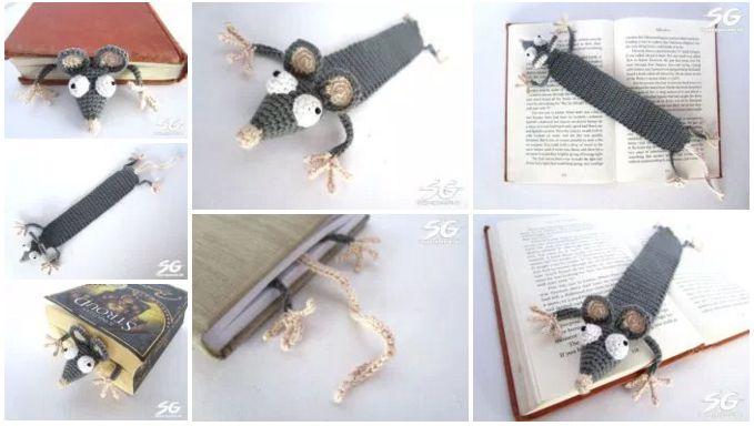 Закладка, связанная крючком - оригинальный подарок на день рождения, особенно, если она сделана с юмором, как та, которая представлена на нашем сайте вместе со схемой вязания.