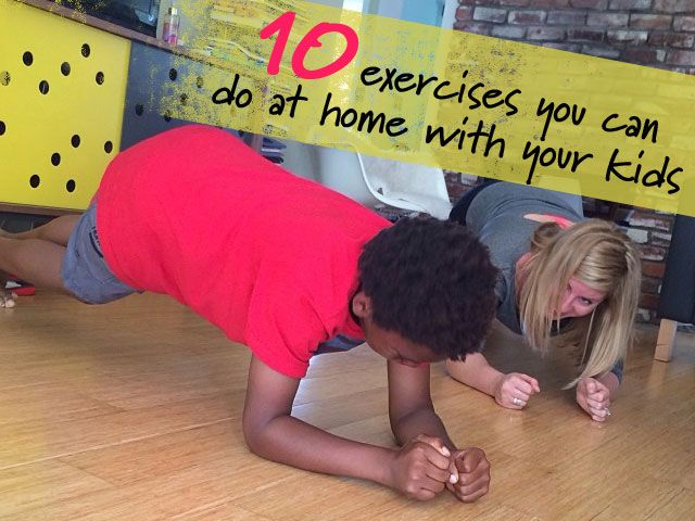 When my kids see me working out, they want to do it too. Here are 10 exercises we do together at home, on Babble.