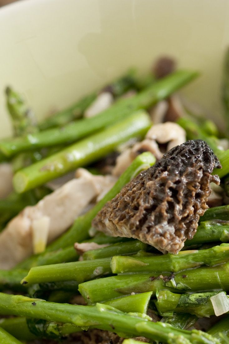 Asparagus With Morels And Tarragon How To Cook