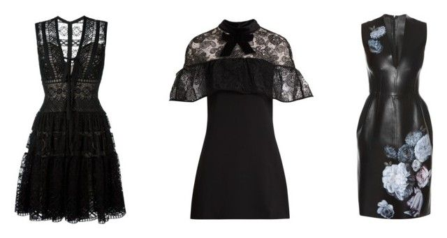 """""""LBD 2"""" by trend-anonymous on Polyvore featuring Elie Saab, self-portrait and Alexander McQueen"""