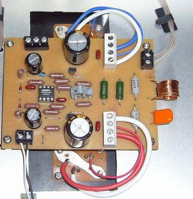 オペアンプ駆動 A級10wパワーアンプ アンプ アンプ 自作 回路図