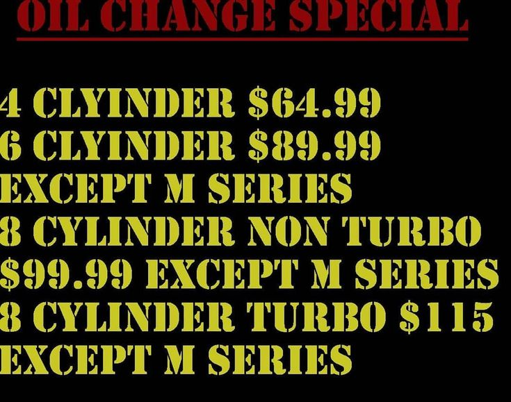 "BMW OIL CHANGE SPECIAL till the end of the month! We Use BMW approved Oil! Made in Germany! 100% high performance full synthetic oil! 5w40!  Service includes bumper to bumper inspection fluid top offs tire pressure check & service reminder reset! Special excludes ""M"" & Diesel models! CALL OR MESSAGE US FOR APPOINTMENT! FINANCING AVAILABLE NO CREDIT CHECK! IMPORT & DOMESTIC REPAIR SPECIALIST DIAGNOSTICS & REPAIR OIL CHANGES  TUNE UPS A/C SERVICE BRAKES SUSPENSION SYSTEM'S  ENGINE/TRANS…"