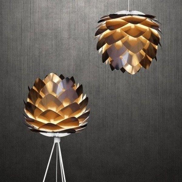 Abat Jour Suspension Fleur Pétales Cuivre Vita Silvia 45 Cm. Copper LampsLamp  ShadesEngland ...