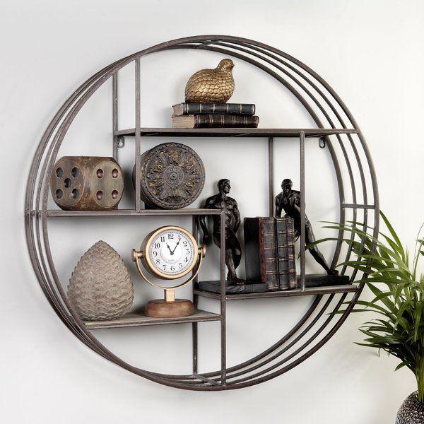 Stunning Circular Wall Shelf With 4 Tier Shelves Each Shelf Is