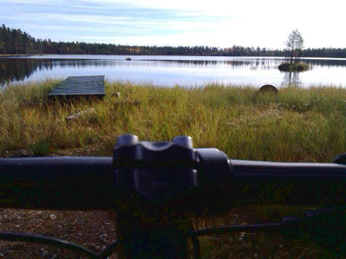 A trip with my bike, gifts me with a great view of a lake in Kauhajoki