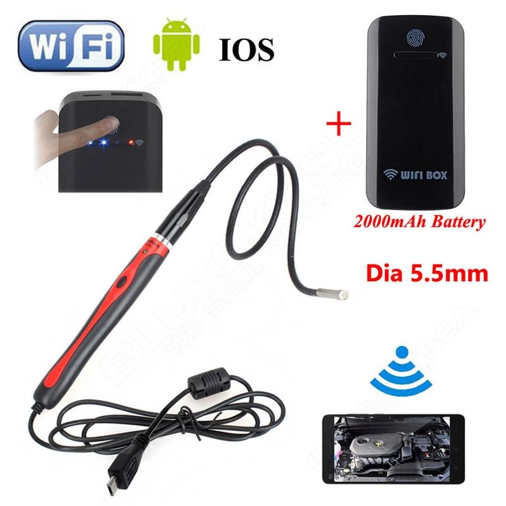 47.22$  Buy here  - Eyoyo 6LED 5.5mm Endoscope Waterproof Inspection Camera For Windows XP/7/Vista/8 Android 4.0+Wireless WIFI BOX For IOS Android