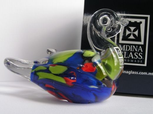 Duck from Mdina Glass