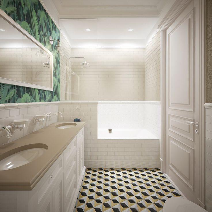 Перегородка в ванне и пол