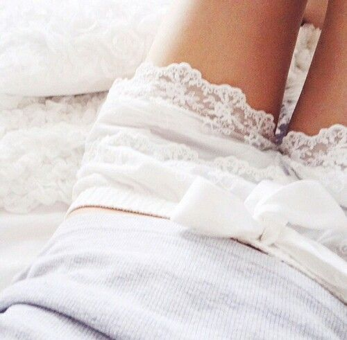Love the white lace shorts.                                                                                                                                                     More