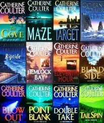 Catherine Coulter - FBI Series, she comes out with a new book every July.