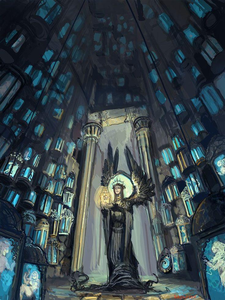 Silmarillion_Mandos cavern by Daswhox on deviantART