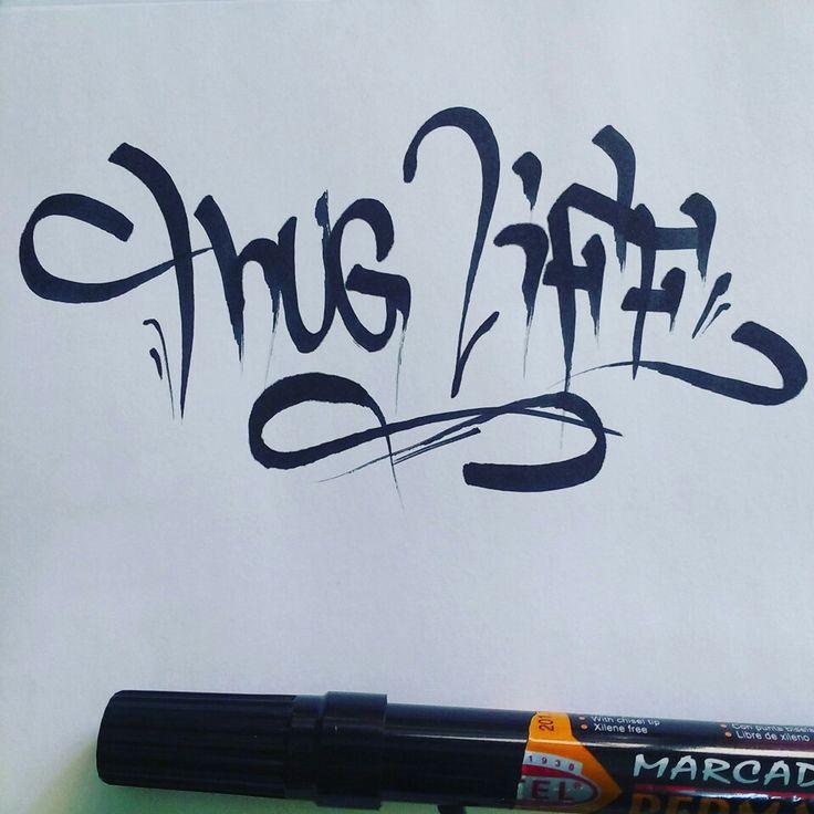 Tattoo letras thug life