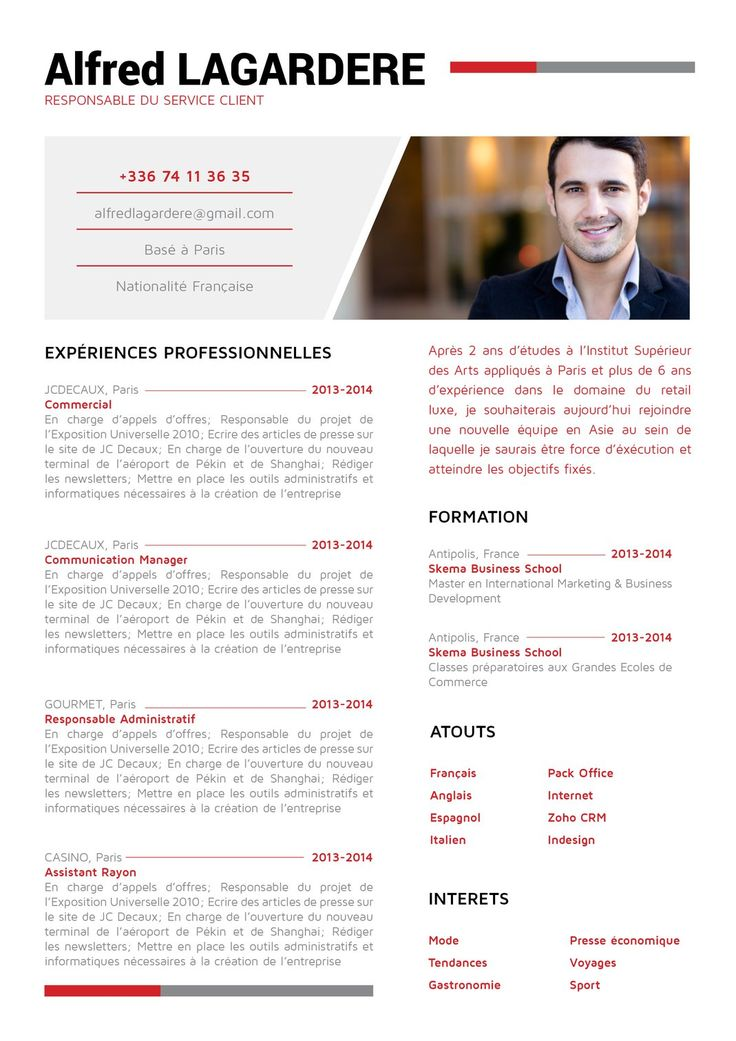 25 best mon cv en rouge images on pinterest