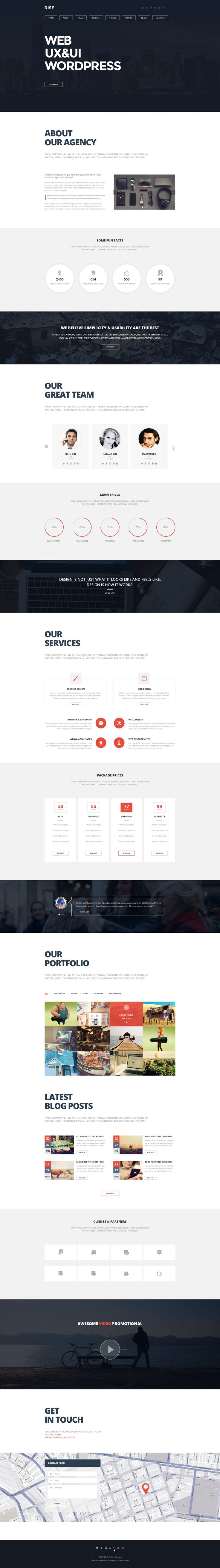 RISE -  OnePage Agency Portfolio Template
