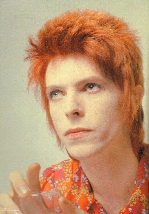David Bowie as Ziggy, 1972. #WesternFashion #albpinczo                                                                                                                                                                                 More