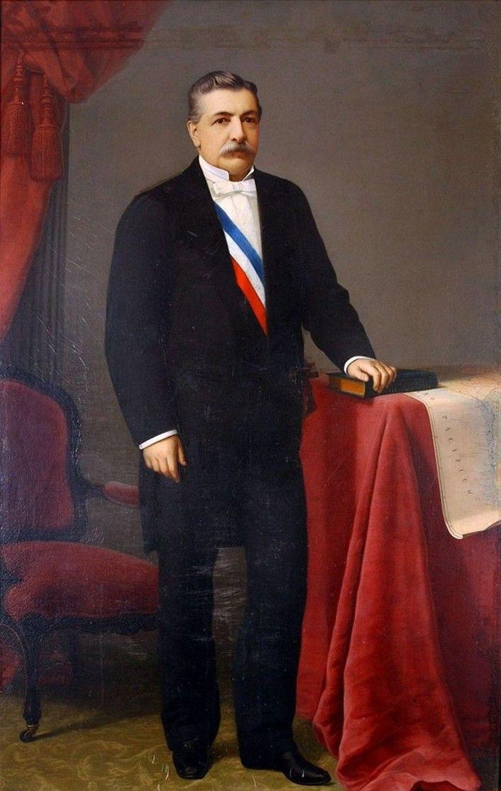 DOMINGO SANTA MARÍA GONZALEZ, fue un abogado y político chileno. Presidente de la República de Chile entre septiembre de 1881 y septiembre de 1886. Fue diputado entre 1868 y 1876, y en 1879 ocupó por vez primera un sillón en el Senado. La primera preocupación del ministerio y del presidente era terminar la Guerra del Pacífico, pues si bien se había ocupado Lima, la lucha en la sierra continuaba. Se logró después de la Batalla de Huamachuco hacer que Perú firmara el Tratado de Ancón, en…