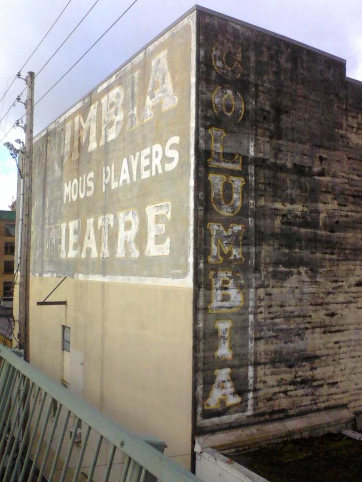 The back of the old columbia theater