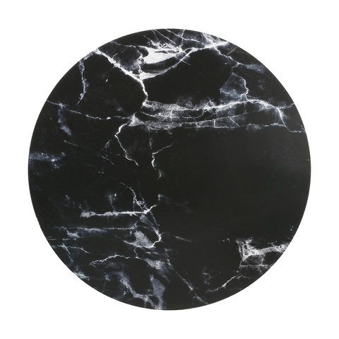 Black Marble Look Corkback Placemat