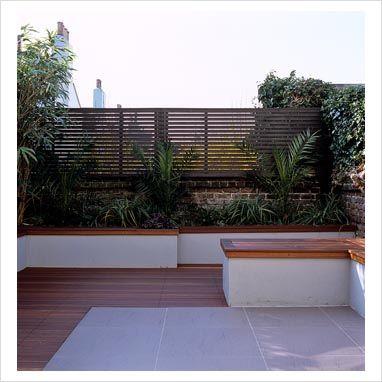 Modern urban garden