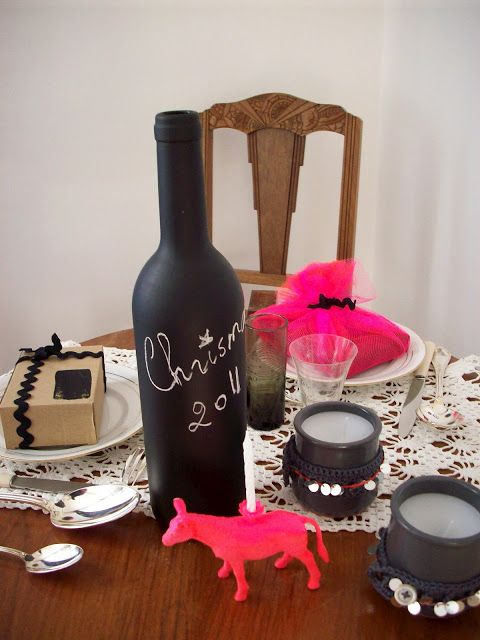 love the critter candle and chalk bottle