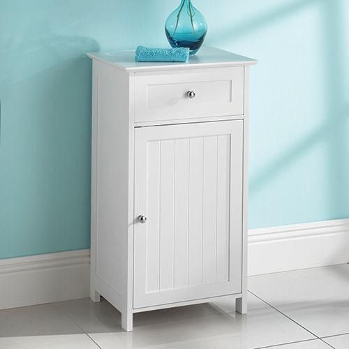 Saxony single door/ drawer bathroom cabinet. Visit us now and ENJOY 10% OFF + FREE SHIPPING on all orders - GBP34.99