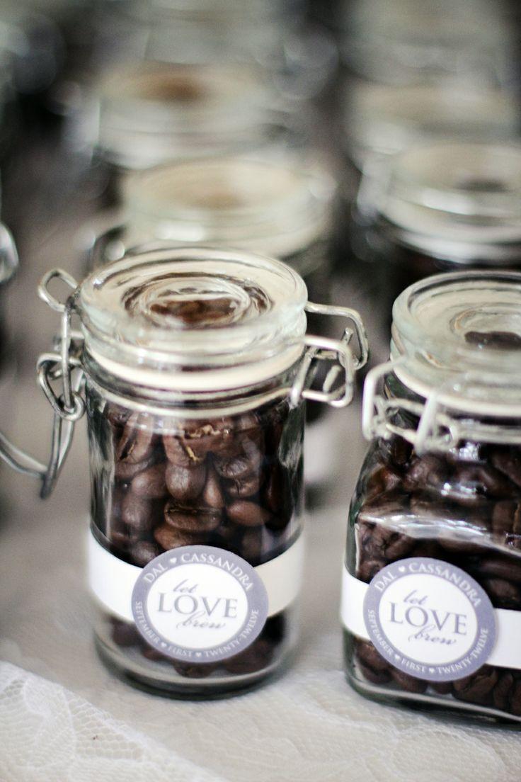 Wedding Favor Coffee Beans Tag Design || Short&Sweet Creative {Photo by Kati Rosado Photography}