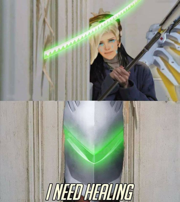 Overwatch meme | The shining, Mercy and genji - I need healing | gaming memes #overwatchMemes humor