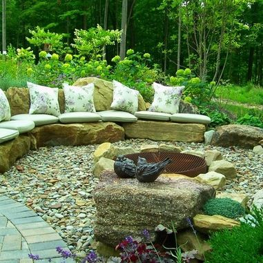 Fire Pit On A Slope Design Ideas Pictures Remodel And