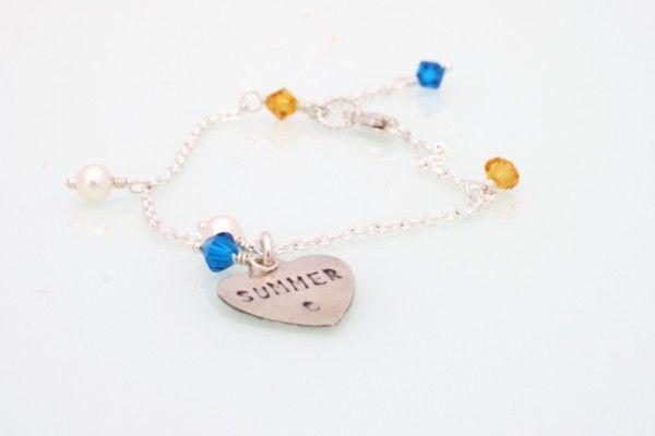 Custom flowergirl bracelet
