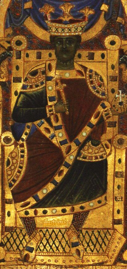 Very Rare image of Henry II (972-1024) King of Italy and Germany also Holy Roman Emperor during the time of the Ottonian Dynasty. From the Sacramentary of Henry II (1002 -1014). Undeniable proof of so called black presence throughout Europe.