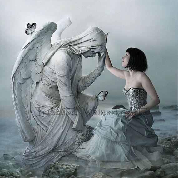 fantasy art angel sad - photo #2