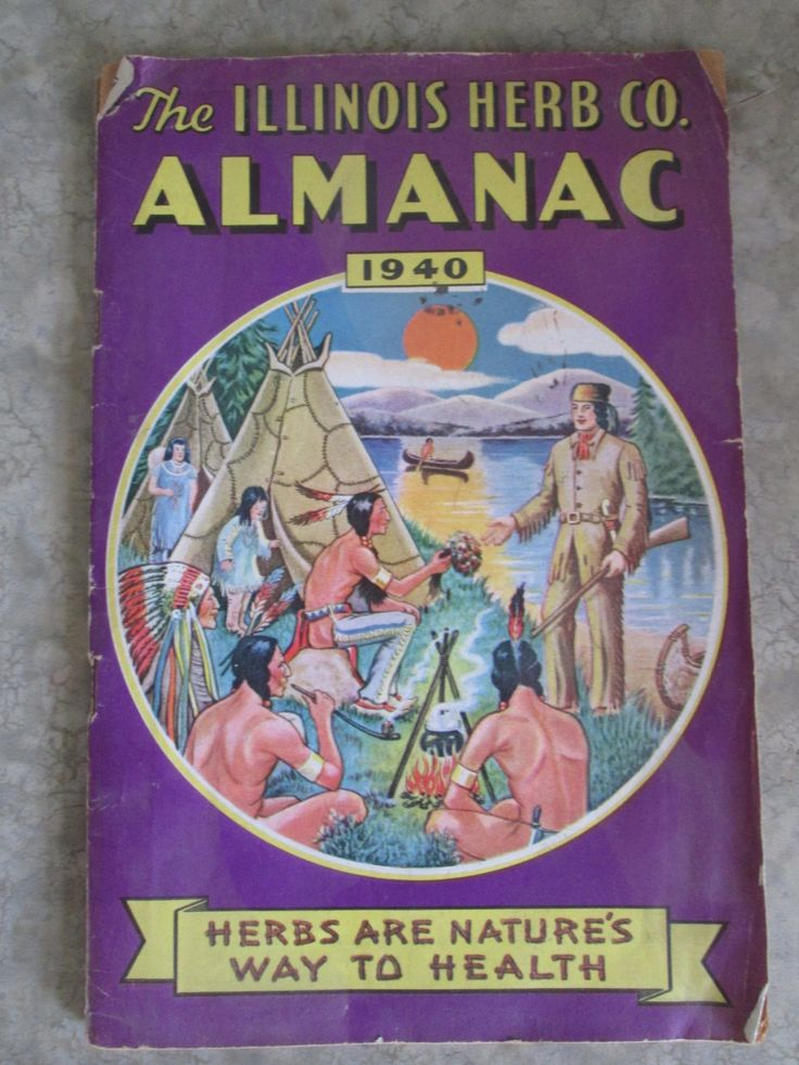 Vintage Illinois Herb Co 1940 Almanac by AuctionAddict38 on Etsy