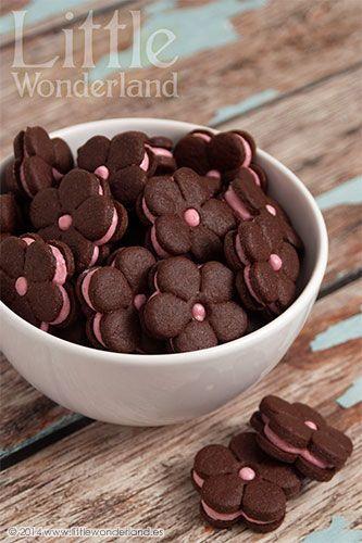 Galletas choco con relleno frambuesa / Raspberry Chocolate Cookies