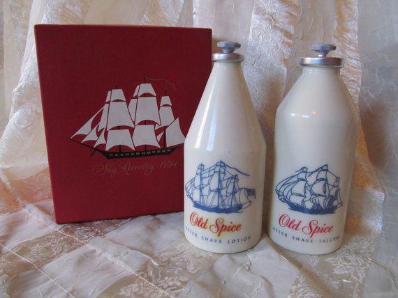 Old Spice Bottles Aftershave Talcum