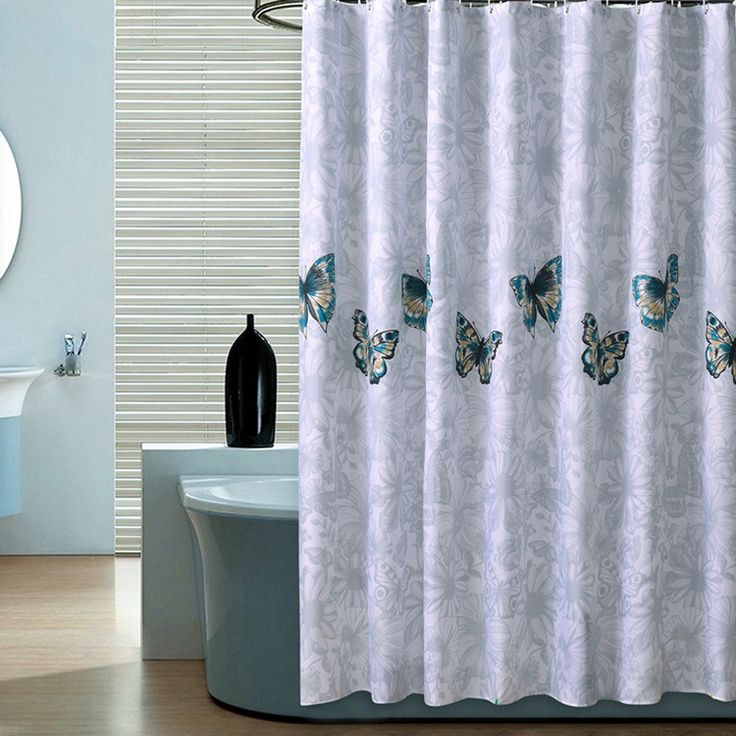 New 200cmx multi-size high-quality modern elegant curtains waterproof shower curtains bathroom products butterfly shower curtain