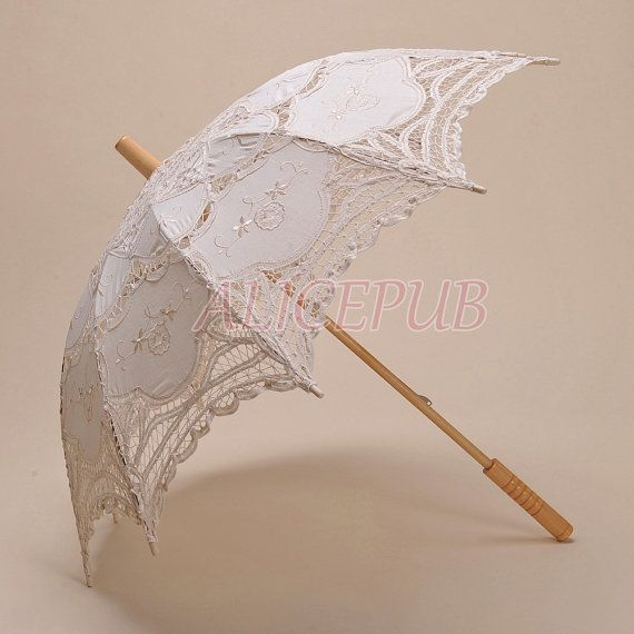 Ivory Wedding Umbrella Lace Bridal Umbrella Lace by ALICEPUB, $21.99