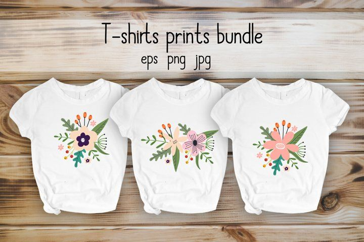 Download Flowers Prints T Shirt Design Eps I Png I Jpg Tshirt Shirt Fabric Apparel Textile Design Kid Man Tshirt Designs Shirt Designs Graphic Design Resources