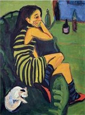 Artista. Marcela. 1910. Ernst Ludwing Kirchner