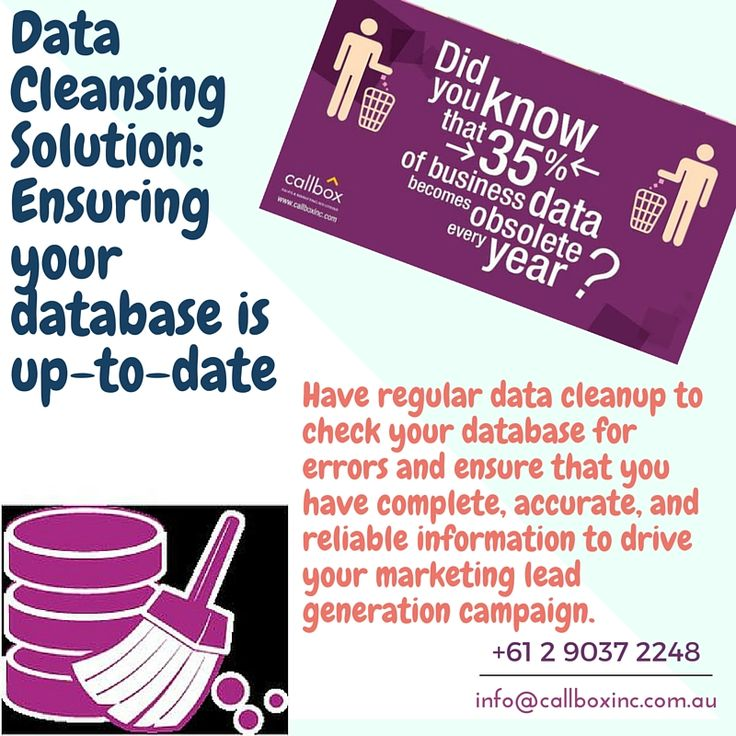 Ensure that you have reliable information to drive your sales and marketing campaign. Let Callbox Australia data cleansing service help you achieve that goal. Call +61 2 9037 2248 for more details.