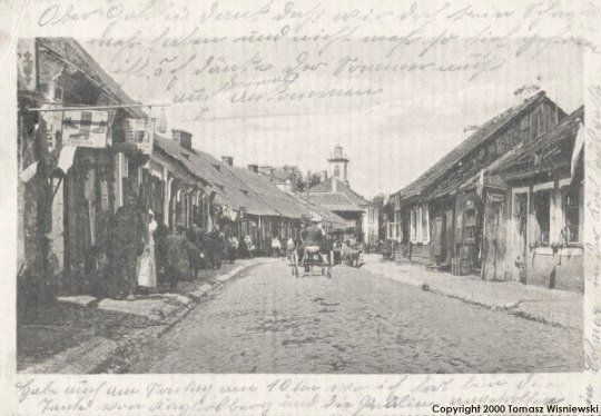 This is a street scene ca 1900 from Ostroleka, Poland
