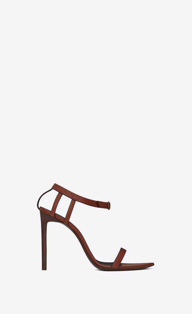 5f6c578cc9 SAINT LAURENT Majorelle Woman MAJORELLE 105 sandals in whiskey ...