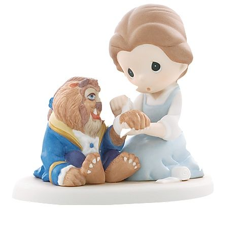 ''Friends Share Caring Hearts'' -- Beauty and the Beast Figurine by Precious Moments   http://www.disneystore.com/friends-share-caring-hearts-beauty-and-the-beast-figurine-by-precious-moments/mp/1239148/1000825/