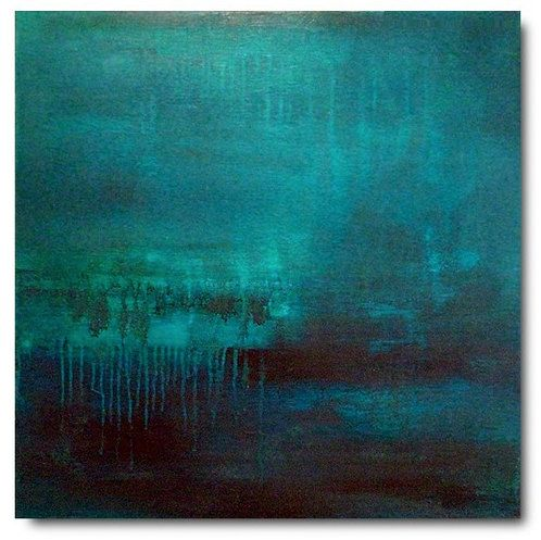 abstract painting - caribbean blue.
