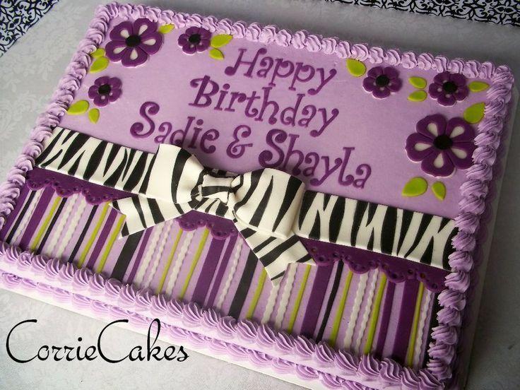 Blechkuchen dekoriert mit Zebra … und Zebra – von Corrie @ CakesDecor.com – ……   – cake