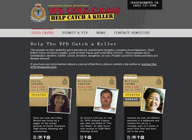 Vancouver police seek help of armchair sleuths to crack unsolved killings | Daily Brew - Yahoo News Canada