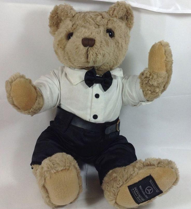 Mercedes benz teddy bear tuxedo 12 tux herrington plush for Mercedes benz bear