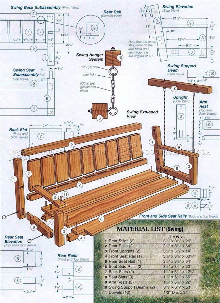 Outdoor Arbor Swing Plans - Outdoor Furniture Plans ...